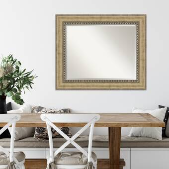 Charlton Home Beresford Arched Top Traditional Beveled Wall Mirror Wayfair