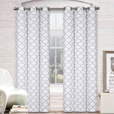 824a3d58020 Pyne Window Premium Trellis Geometric Room Darkening Outdoor Grommet  Curtain Panels (Set of 2)