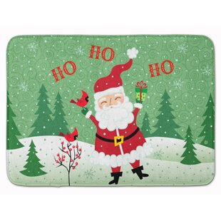 Merry Christmas Santa Claus Ho Ho Ho Memory Foam Bath Rug by The Holiday Aisle Wonderful