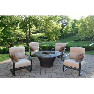 Darby Home Co Owego 5 Piece Conversation Set with Cushions