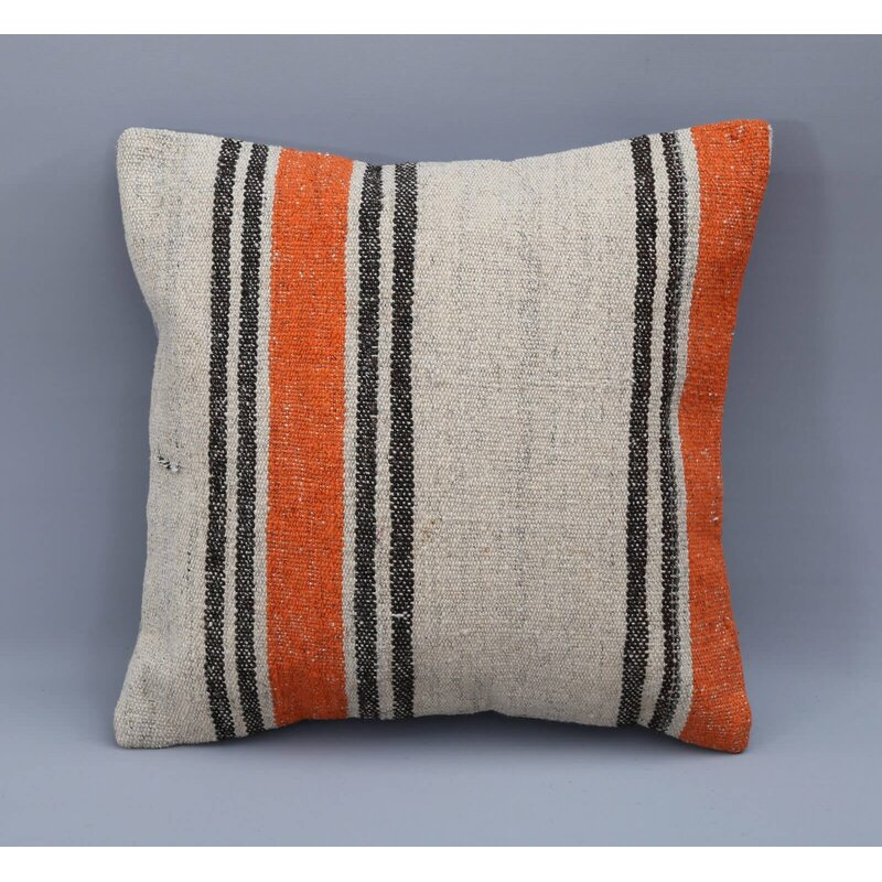 Gracie Oaks Barfuss Square Wool Pillow Cover And Insert Wayfair
