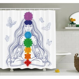 Allston Chakra Spiritual Girl Single Shower Curtain