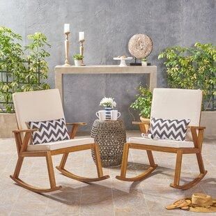 Gracie Oaks Chereen Rocking Chair with Cushion