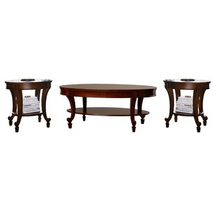 Three Posts Fitchett 3 Piece Coffee Table Set