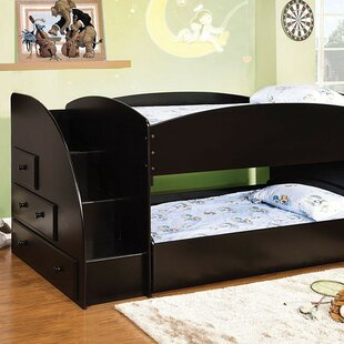 Fargo Twin over Twin Bunk Bed with Drawer by Harriet Bee