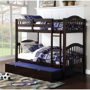 Dwaine Panel Twin over Twin Bunk Bed with Trundle