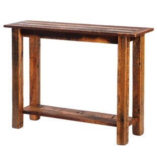 Fireside Lodge Reclaimed Barnwood Console Table