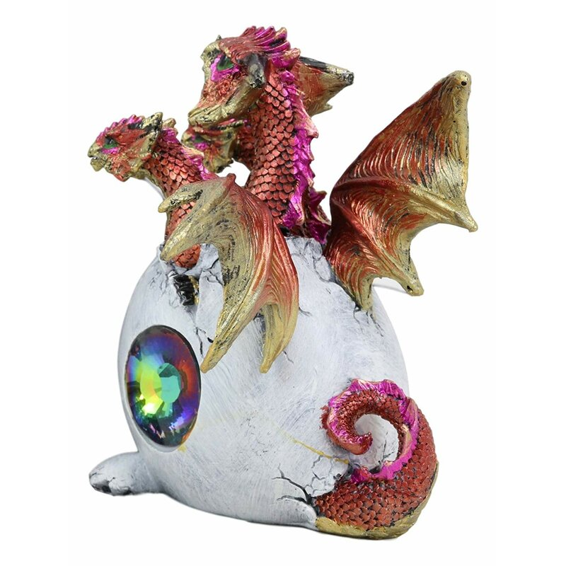 3 Headed Dragon Hatchling Collectible Figurine Statue Sculpture Figure
