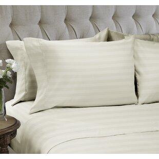 Easy Living Home Dobby Stripe Embossed4 Piece Sheet Set