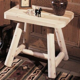 Log End Table by Rustic Natural Cedar Furniture