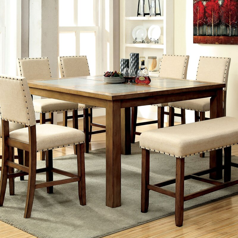 Superior Crafton 9 Piece Counter Height Pub Table Set