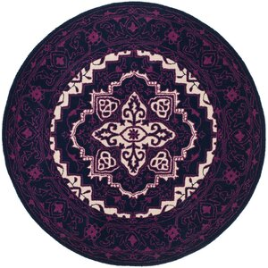 Io Hand-Tufted Purple Area Rug