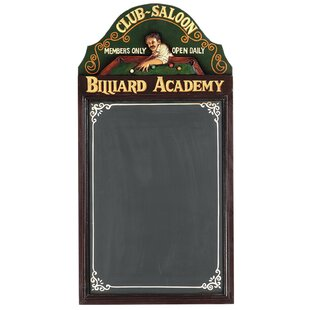 Cleaves Hand-Carved Billiard Academy Sign By Winston Porter