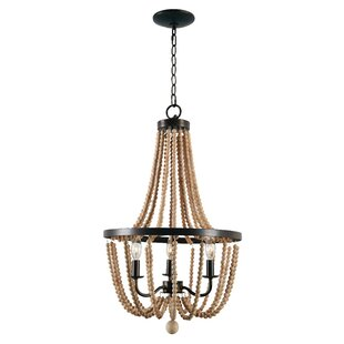 Wood bead chandelier wayfair save to idea board mozeypictures Image collections