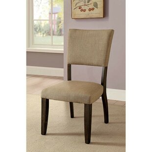 PeoPles Upholstered Dining Chair (Set of 2) Canora Grey