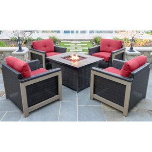 Longshore Tides Newstead 16 Piece Conversation Set with Cushions
