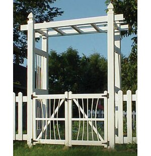 Dura-Trel Courtyard Vinyl Arbor Gate