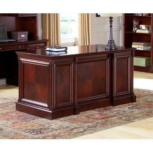 Lucious Solid Wood Executive Desk by Canora Grey