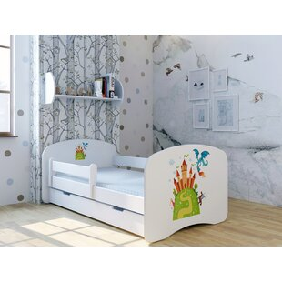 Castle Bed With Mattress And Drawer By Zoomie Kids