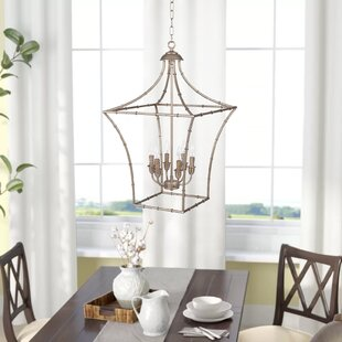 Lea Traditional 6-Light Lantern Chandelie..