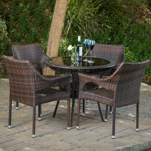 Draeger Outdoor 5 Piece Dining Set