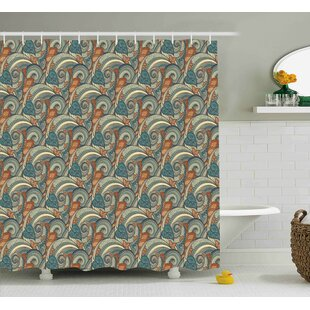 Inexpensive Bayles Contrast Bright Tones Shower Curtain ByBloomsbury Market