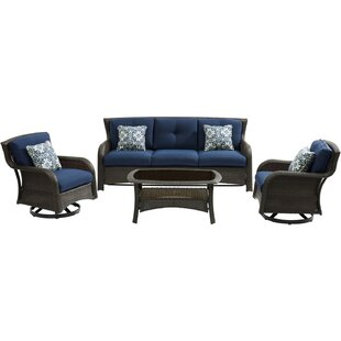 Asherman 4 Piece Conversation Set with Cushions by Sol 72 Outdoor