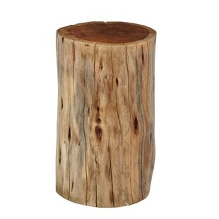 Dubose Round Wooden Stump End Table