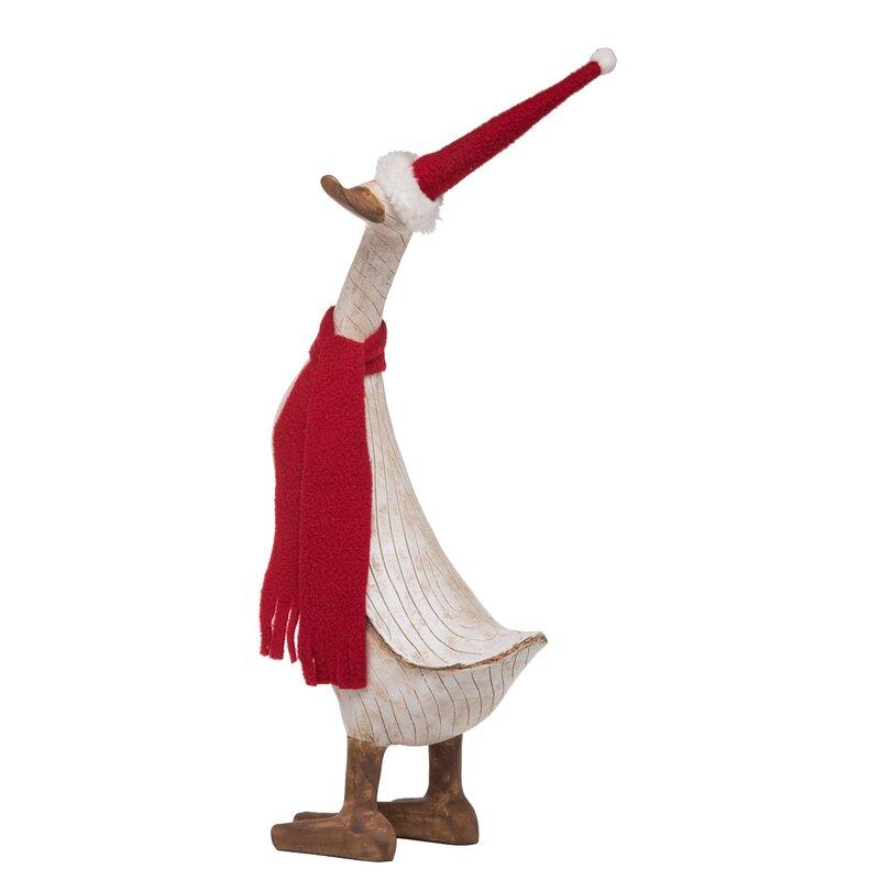 large resin christmas duck figurine - Christmas Duck