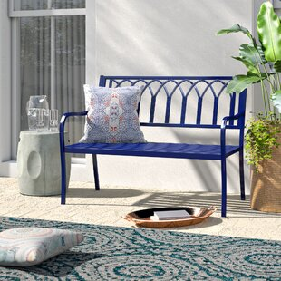 Blankenship Steel Garden Bench by Mistana Today Only Sale