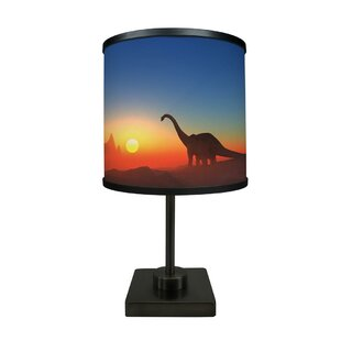 Affordable Dalia Dinosaur at Dawn 16.88 Table Lamp By Zoomie Kids
