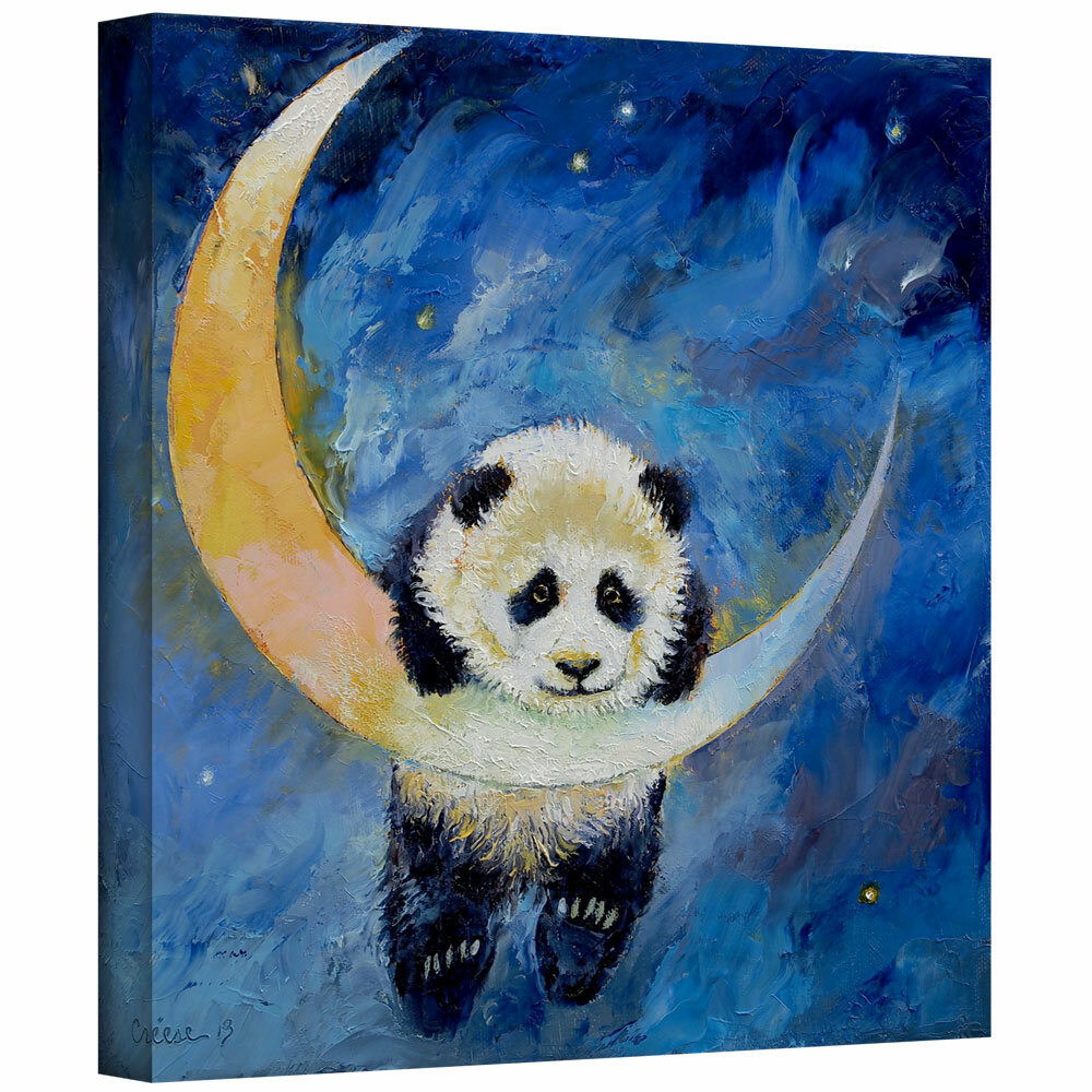 22 by 22-Inch ArtWall Little Panda Unwrapped Canvas Art by Michael Creese