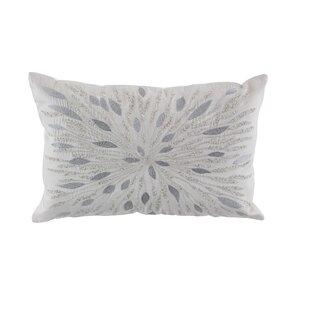 Almon Modern Metallic Embroidery Throw Pillow