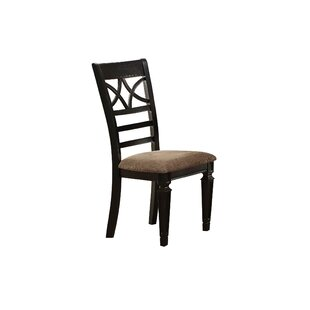Otisco Double X Back Upholstered Dining Chair (Set of 2)