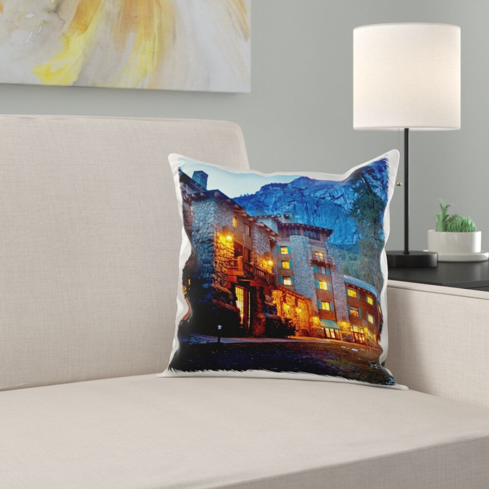 East Urban Home Ahwahnee Lodge Yosemite Np California Usa Pillow Cover Wayfair