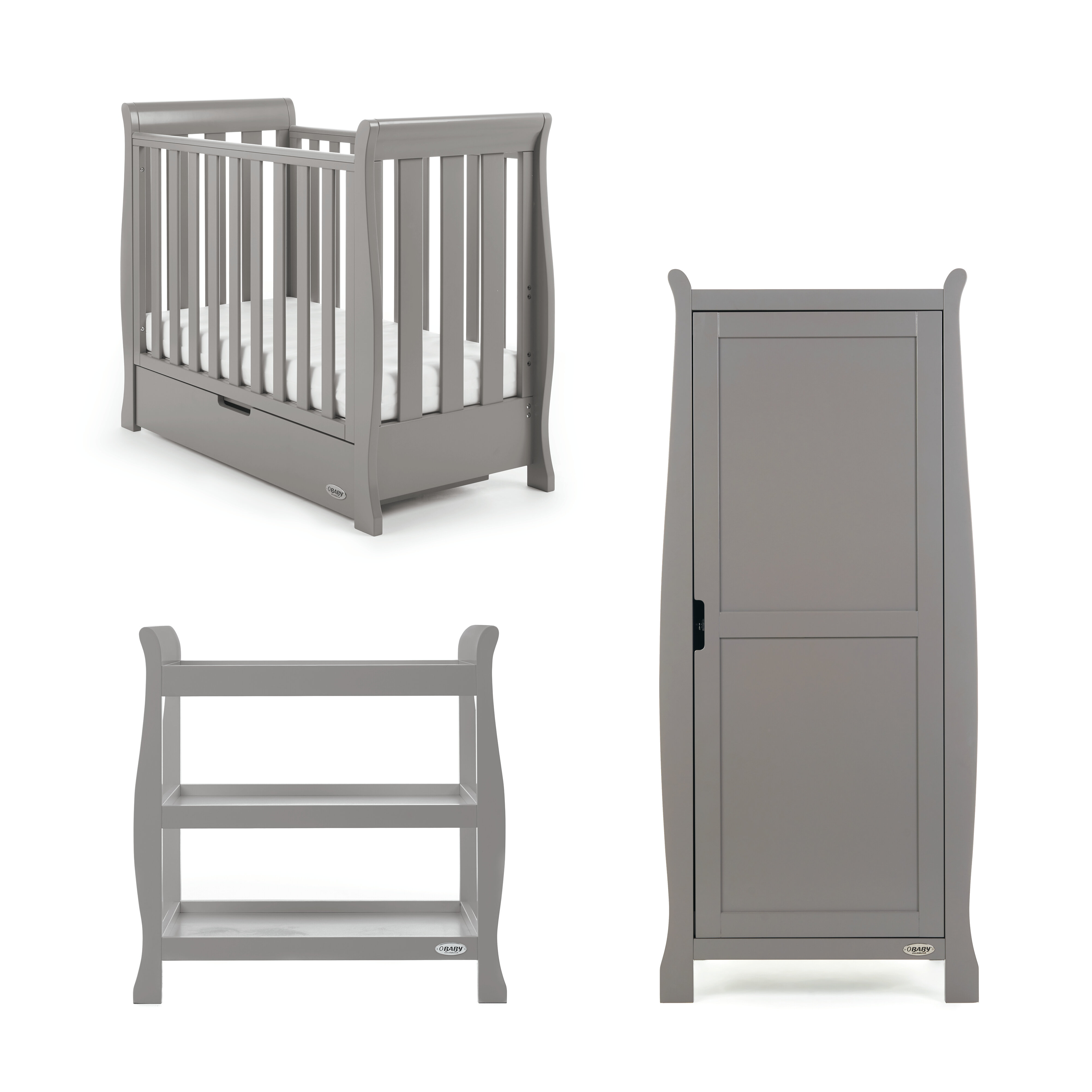 The Full Size Stella Cot Bed Offer Most Versatility With Top Rated Deluxe Sprung Mattress Matching Changer Safe And Plenty Storage For Baby