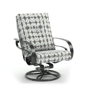 Bloomsbury Market Ivory Swivel Patio Chair with Sunbrella Cushions