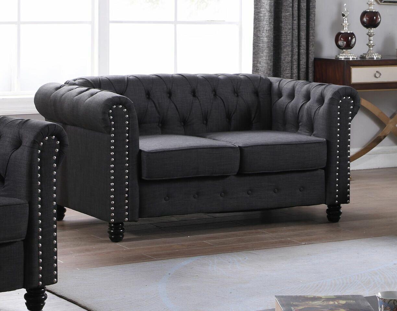 Charmant Altman Fabric Modern Living Room Loveseat