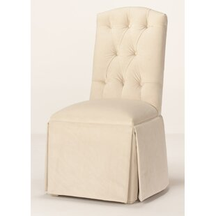 Pearce Diamond Tufted Skirted Side Chair Red Barrel Studio