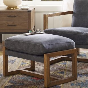 Harbor House Durham Leather Ottoman