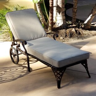 Timothy Reclining Chaise Lounge with Cushion