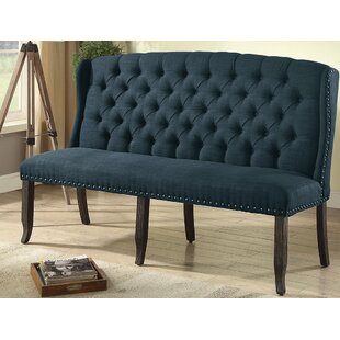 Otero Tufted High Back 3-Seater Love Seat Upholstered Bench by Canora Grey