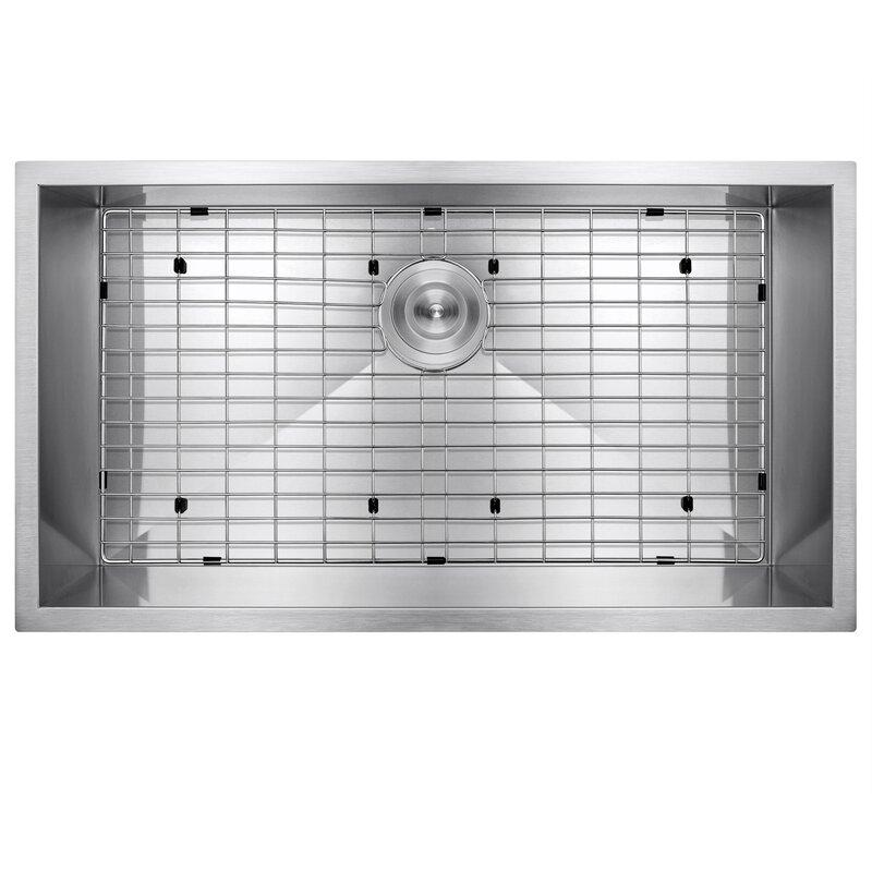 Akdy 32 X 18 Undermount Stainless Steel Single Bowl Kitchen Sink Reviews Wayfair