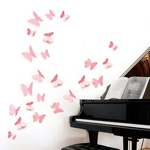 Butterfly Wall Sticker By East Urban Home