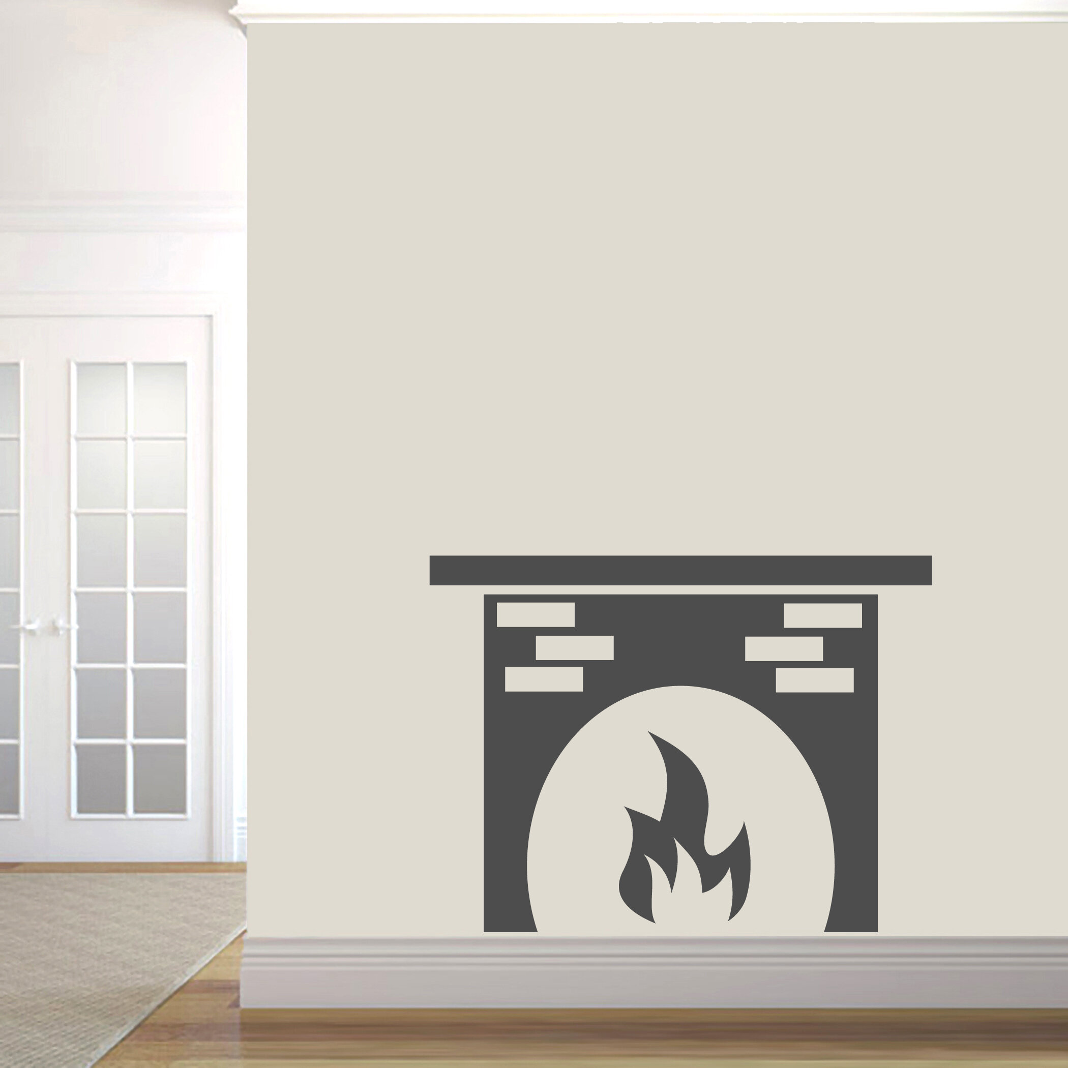 Winston Porter Turley Fireplace Wall Decal Wayfair