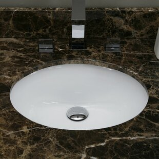 Bloomsbury Market Hollifield Ceramic Oval Undermount Bathroom Sink with Ov..