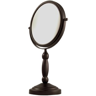 Alcott Hill Two Sided 1X/10X Magnification Swivel Mirror