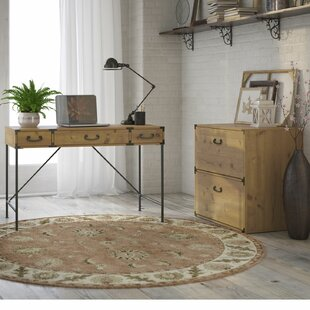 Ironworks 2 Piece Desk Office Suite by Kathy Ireland Home Bush Furniture Discount