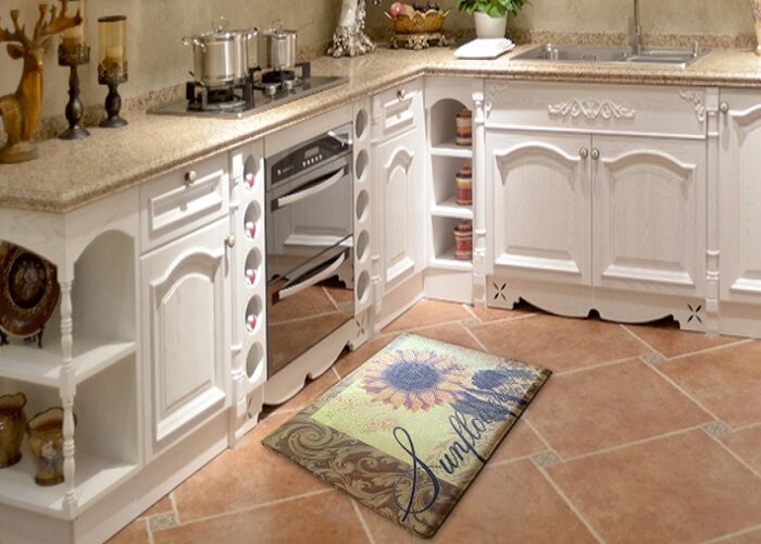 Slye Sunflower Direct Printing Kitchen Mat