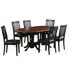 Jessie 7 Piece Extendable Solid Wood Dining Set Alcott Hill